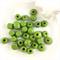 30 x mixed wooden beads - green