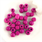 30 x mixed wooden beads - pink