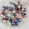 100 x glass pearl and crystal mixed beads - mix #4