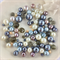 100 x glass pearl and crystal mixed beads - mix #2