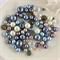 100 x glass pearl and crystal mixed beads - mix #3