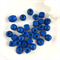 30 x mixed wooden beads - cobalt blue