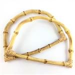 2 x bamboo bag handles