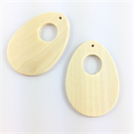 2 x blank wooden pendant beads