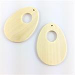 2 x blank wooden pendant beads