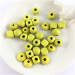 30 x mixed wooden beads - yellow
