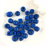 30 x mixed wooden beads - cobalt blue