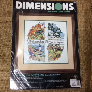 Dimensions Stamped Cross Stitch Kit - A Season for Everything