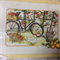 DMC Counted Cross Stitch Kit - Bike, Watering Can, Basket of Pears, Apples