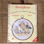 Bunnykins Counted Cross Stitch Kit including Frame - Beachtime