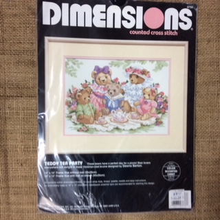 Dimensions Counted Cross Stitch Kit - Teddy Tea Party
