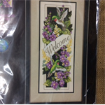 Dimensions Stamped Cross Stitch Kit - Hummingbird Welcome