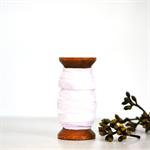 Pearl Velvet Glitter Ribbon {5.0m} Contemporary Gift Wrap   White DIY Craft