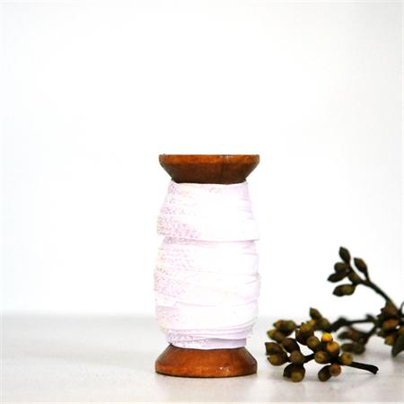 Pearl Velvet Glitter Ribbon {5.0m} Contemporary Gift Wrap | White DIY Craft