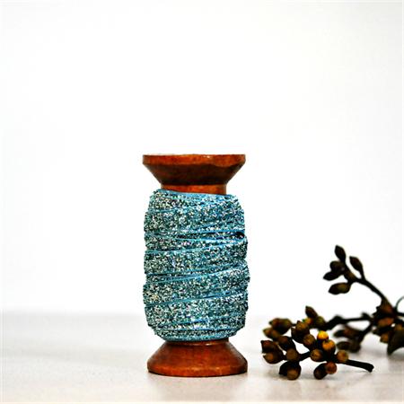 Blue Velvet Glitter Ribbon {5.0m} Sparkly Gift Ribbon | Glitter Gift Ribbon