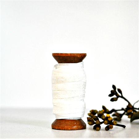 White Velvet Glitter Ribbon {5.0m} Contemporary Gift Wrap | White DIY Craft