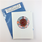 Glass pendant in a gift card- red spiral, Christmas, birthday, thank you