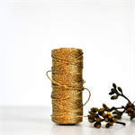 Gold {10m} Bakers Twine   Gold Metallic Twine   Sparkly Silver Twine
