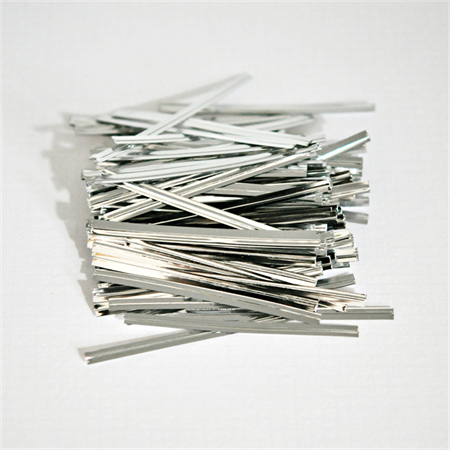 Silver {100} Foil Twist Ties | Bread Twist Ties | Christmas Wrap