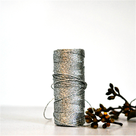Silver {10m} Bakers Twine | Silver Metallic Twine | Sparkly Silver Twine