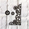 6 steampunk gear frame with 2 small gears die cut embellishments.