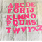 3 set of large die cut embellishment alphabet letters- A to Z