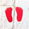 12 cute baby feet and baby hands die cut embellishments.