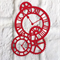 6 large colourful die cut clock embellishments.