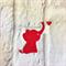 6 cute die cut elephant and love heart embellishments