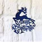 5 gorgeous merry Christmas reindeer die cut embellishments.