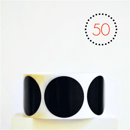 Black Matte {50} Circle Stickers Foil Large {45mm} | Envelope Seals DIY Supplies