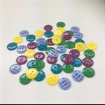50 x Polkadot Buttons | 18 mm | Maroon | Blue | Yellow | Green | Blue | Plastic