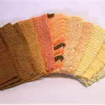 "CHENILLE PATCHWORK 6"" Squares, Vintage, Quilting, Craft, Toymaking, Autumn"