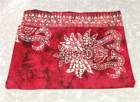BATIK FABRIC RED, Black, White, Vintage Cotton Length