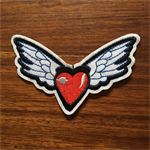 Heart With Wings - Iron on Appliqué Patch