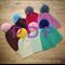 V-Stitch Crochet Slouch Hat with Pom-Pom Pattern PDF