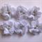 White chiffon flower x 6