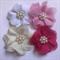 chiffon flower x 4
