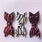 Animal print bow x 3