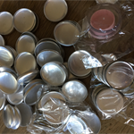 100 x 28mm Self cover buttons with flat back
