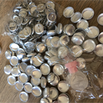 100 x 15mm Self cover buttons with shank back
