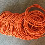 50 x Orange Hair Elastics