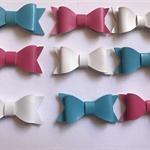Glitter bows x 9
