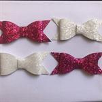 Glitter bows x 4