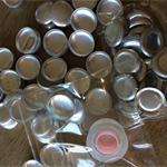 100 x 15mm Self cover buttons with flat back