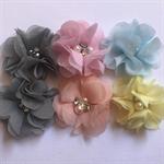 chiffon flower x 6