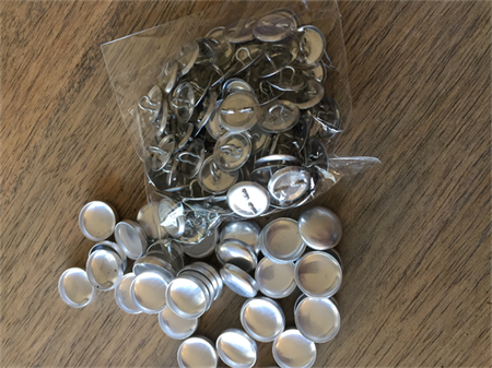 MISMATCHED 15mm Self cover buttons with shank back
