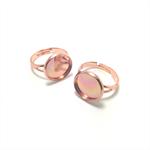 Ring Base 12mm Bezel Setting - 10pcs - Rose Gold