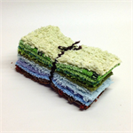 CHENILLE 6 Inch Squares, Vintage, Craft, Toy making, Patchwork, Quilting
