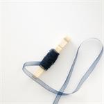 Navy Ribbon {5m} | Navy Gauze Ribbon | Holiday Gift Ribbon | Metallic Ribbon